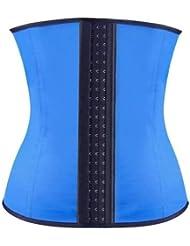 Stoga cintura del condensador de ajuste de la correa de la correa de la talladora del cuerpo m¨¢s delgado del cruzado de la correa para las mujeres-Azul