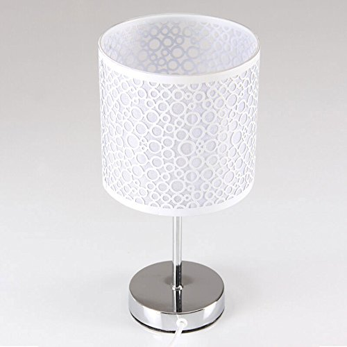 plafonnier-moderne-simple-table-lampe-metal-fer-art-table-lampe-blanc