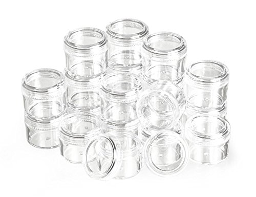 Preisvergleich Produktbild 20 runde Döschen klar Behälter Dose Perlenbox 15ml ø35mm VBS Großhandelspackung