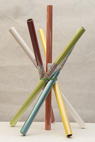 Naturpapier-Japanisches Papier-Geschenk und Beleuchtung: Spule Papier Reis bunt türkis -