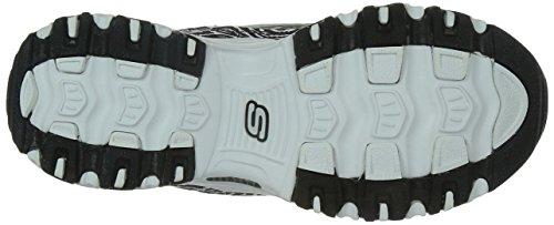 Skechers  D'LitesCentennial,  Sneaker donna White/Black/Animal Print