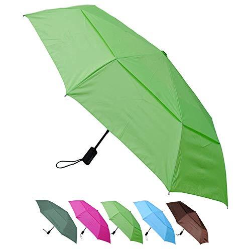 rose VORCOOL Pliage Triple Parasol pliant Parasol d/ôme /ébouriff/é soleil pluie parapluie Anti-UV ombrelle