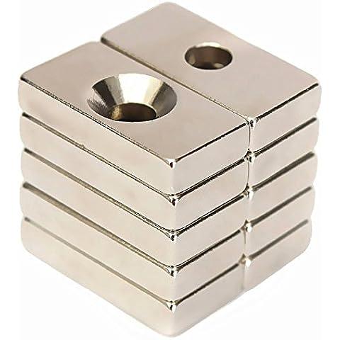 Drillpro 10pcs N50 Super Strong Block Magnets