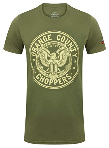 OCC Orange County Choppers T-Shirt Eagle Military Green-XXL - Gang Green T-shirt