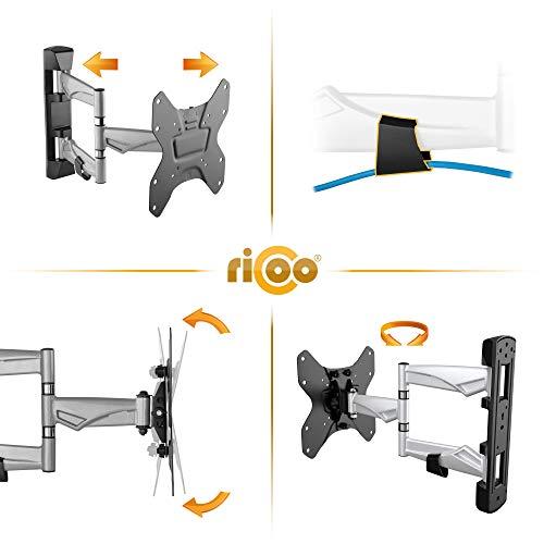 RICOO Fernseh-Halterung S3222 Flachbild-Fernseher O-LED Wohnwand LCD TV Wandhalterung Schwenkarm Flachbildschirm Fernseh-Wand-Halter VESA 200×200 - 3