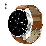 Clever Sehen Bluetooth Clever Uhren Sport Schritt Herz Bewertung schlafen Überwachung Clever sehen kompatibel Mit Apfel iOS und Android Telefone (Zwei Farben),Brown