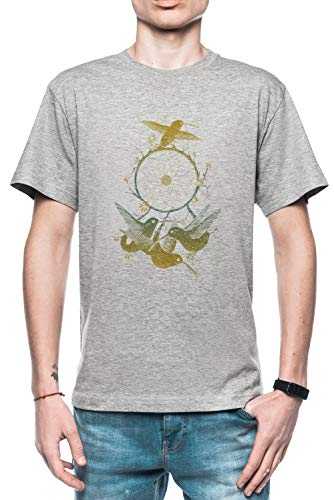 Rundi Dreamcatching Hombre Camiseta Gris Tamaño M - Men's T-Shirt Grey