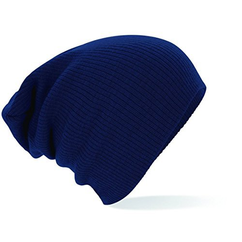 Beechfield Slouch beanie French Navy one size,French Navy (Damen-double-knit)