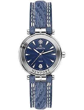 Michel Herbelin Newport Damenuhr blau/silber 14255/35