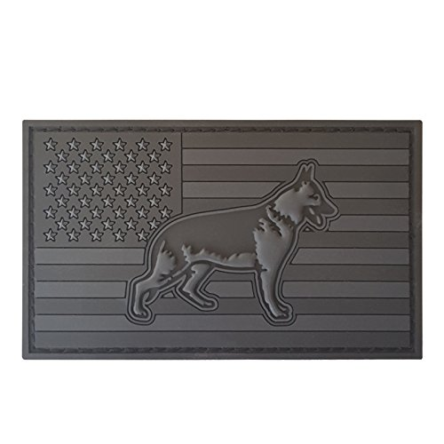 Subdued ACU K-9 USA Flag K9 Handler Police Dogs of War Morale Gear PVC Rubber 3D Hook-and-Loop Patch