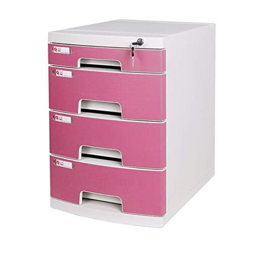 ZEQUAN Schreibtisch-Aktenschrank mit Kunststoff-Nachttisch mit Schlossfach (Color : C) -