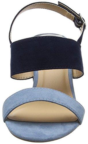 Dorothy Perkins Sally Strappy, Sandales à talon femme Bleu (Bleu)
