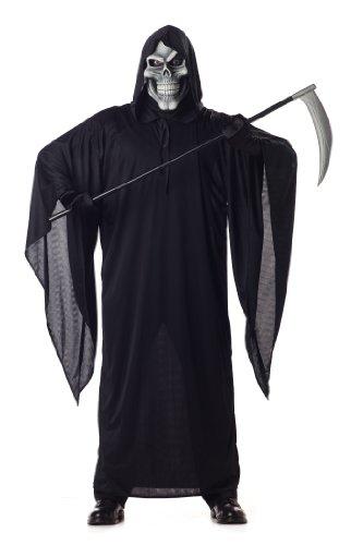MENS BLACK GRIM REAPER HALLOWEEN FANCY DRESS - Grim Halloween