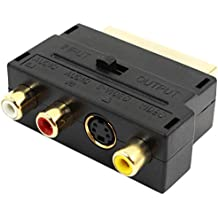 Euroconector 20 pin macho a 3 RCA AV hembra + adaptador de S Video