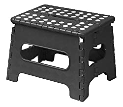 Acko 9 x 11 Black Folding Step Stool great for kids and adults. Holds up to 300 LBS