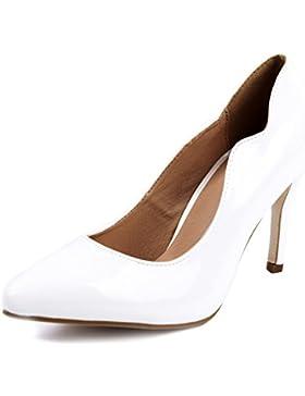 AgeeMi Shoes Damen Stiletto High Heels Pumps Spitz Wildleder Schuhe Pumps