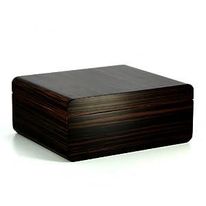 adorini Humidor Novara Deluxe Zigarren-Kiste zu Lagerung von ca. 75 Zigarren in braun