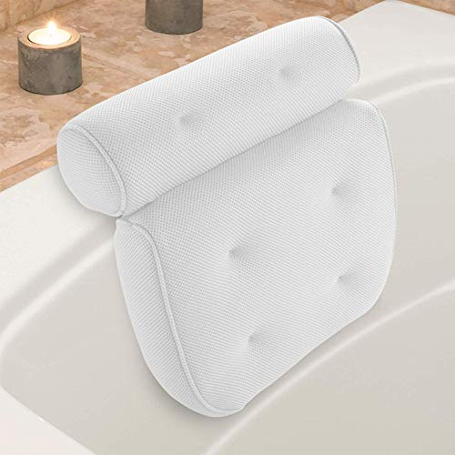 Badewannen-Kissen, Bad-/Wellness-Kissen, Komfort Badekissen,passend für alle Whirlpools, Jacuzzis & Standardwannen rutschfest, extra dick für perfekte Kopf-, Hals-, Rücken- und Schulterstützung