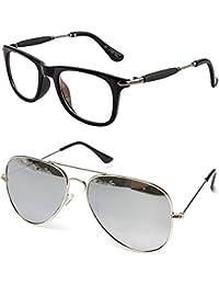 7616eb22b22 Younky Unisex Combo offer Pack of UV Protected Stylish Wayfarer Sunglasses  For Men Women
