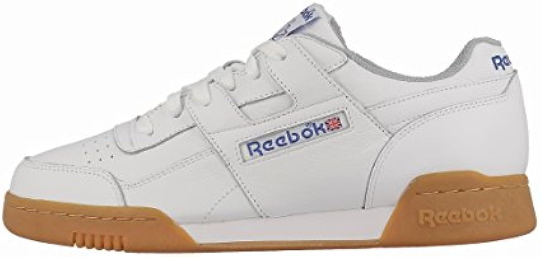 Reebok Workout Plus R12 Herren Laufschuhe  weissszlig (White/Reebok Royal/Flat Grey)