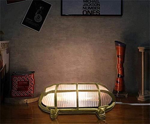 Nautische Outdoor-leuchten (ATR Messing Bulkhead Oval Outdoor Wasserdichte Lampe Nautische Wandlampe Industrielle Vintage Licht Industriellen Stil)