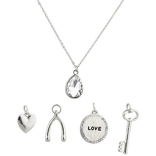 lux-accessories-teardrop-crystal-heart-wishbone-luck-love-pave-lock-key-interchangeable-necklace-set