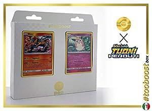 Entei 47/214 Y Wigglytuff 134/214 - #tooboost X Sol E & Luna 8 Tuoni Perduti Box de 10 Cartas Pokémon Italiano + 1 Goodie Pokémon