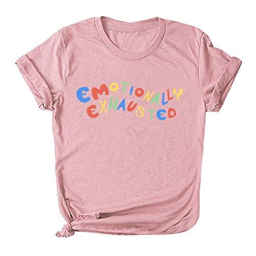 Sommer T-Shirt,Rifuli® O-Ausschnitt Kurzarm Taschensack Plus Size Cotton Tee Casual Top Bekleidung Damen Pullover Strickjacken Tops ()