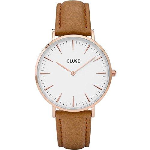 Cluse Damen-Armbanduhr Analog Quarz Leder CL18011