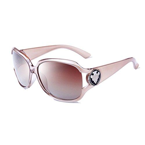 LQQAZY 2018 Dame Treibend Polarisierte Sonnenbrille Mode Große Kiste Gläser Welle Retro Elegant Sonnenbrille,D