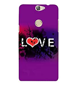 printtech Love Heart Abstract Design Back Case Cover for Coolpad Max