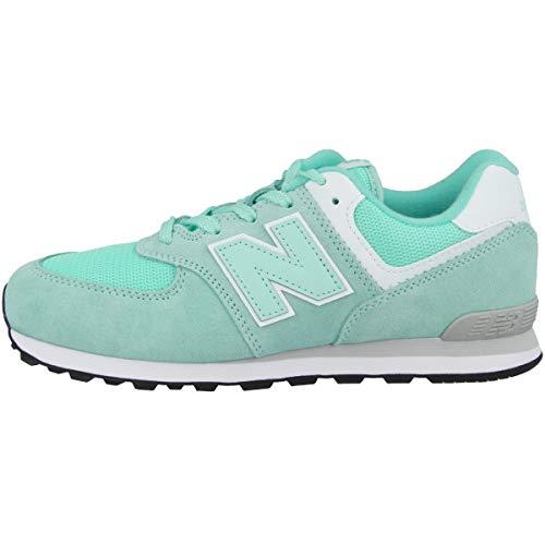 New Balance Unisex-Kinder 574 Sneaker, Türkis (Light Reef EL), 38 EU