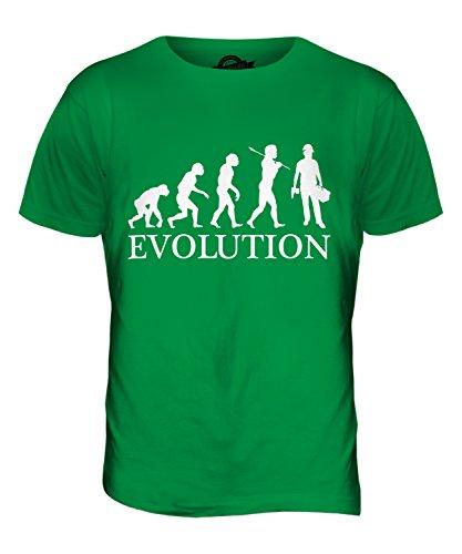 CandyMix Bauberuf Bauarbeiter Evolution Des Menschen Herren T Shirt Grün