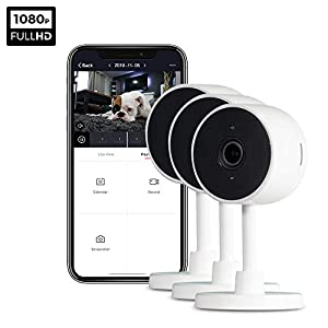 iPixo WiFi Indoor Home Security Camera, Wireless IP Cam with Infrared Night Vision, Instant Motion Alerts, 2 Way Audio, Live Stream, Recording, Playback, Alexa Support, Pet Dog Nanny (Triple Pack)   4