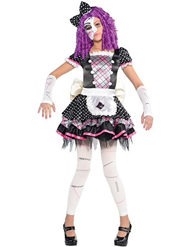 Nuovo amscan bambini di halloween damaged doll ragazze fancy dress costume party
