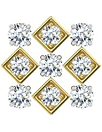 TBZ - The Original 18k (750) Yellow Gold and Diamond Screw Nosepin