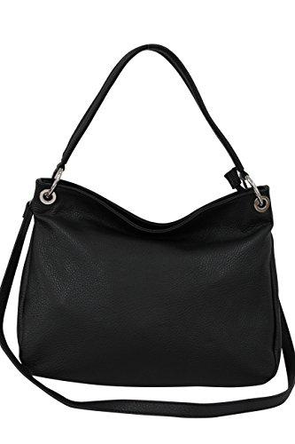 AMBRA Moda, Borsa a spalla donna grigio Grau nero