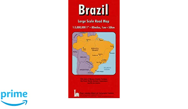 Brazil National Road Map Red Cover Amazoncouk Unknown - Brazil large scale road map