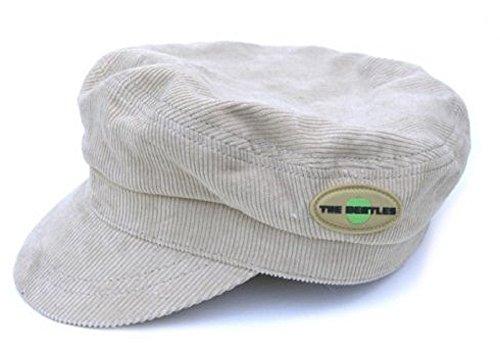 Générique The Beatles Cord Hat Beige Help Apple Band Logo Officiel Retro