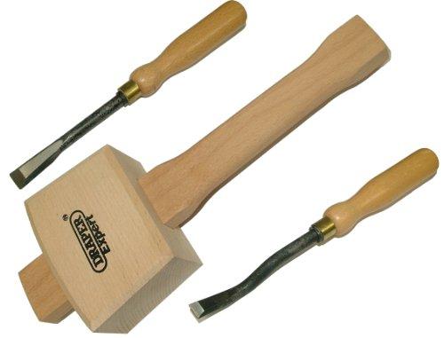 Holz gerader Stechbeitel, die es Stechbeitel + Mallet, Gurtspanner (Holz-meißel Mallet)