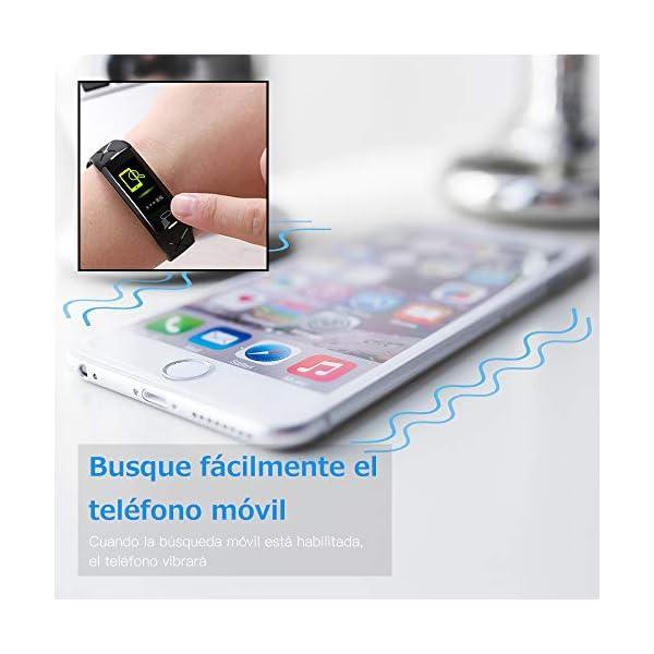 Sonkir Fitness Tracker HR, Reloj de Seguimiento de Actividad con Monitor de frecuencia cardíaca, podómetro, Contador de calorías, Monitor para Dormir, Pulsera Inteligente Resistente al Agua IP68 7