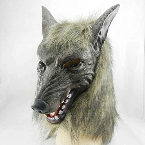 Republe Maske Wolf Gruselige Halloween-Kostüm-Pelz-Mane Latex Horror Teufel Masken Wolf-latex-maske