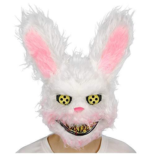 YaPin Blutige Flauschige Kaninchen Maske Cos Halloween Horror Maskerade Party niedlichen Tiergesicht