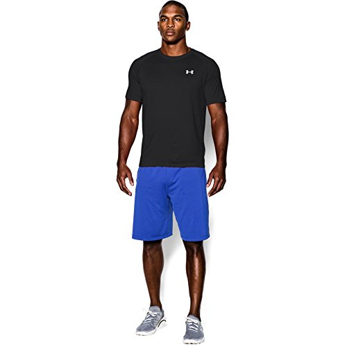 Under Armour Herren Fitness T-Shirt UA Tech Tee Schwarz (Black Steel)