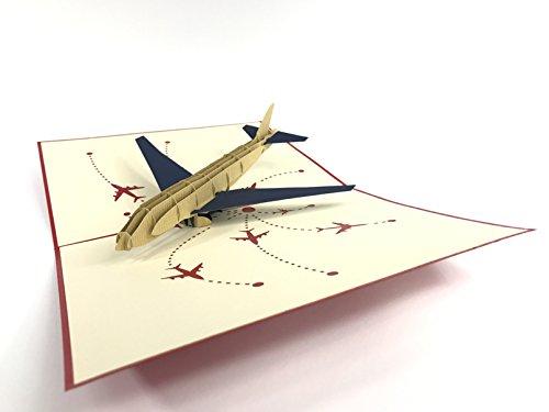 Flugzeug V23D Pop up Karten Vintage Flugzeug Creative Geschenke Postkarte Geburtstag Valentinstag Grußkarten, für Liebhaber (Ups-geschenk-karte)