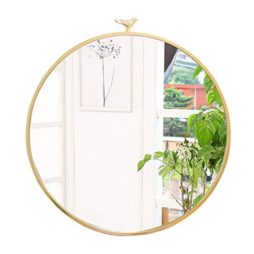 Großer moderner Kreis-Metallrahmen-Wandspiegel | Schwimmender runder Spiegel | Kosmetikspiegel, Schlafzimmerspiegel oder Badezimmerspiegel Gold