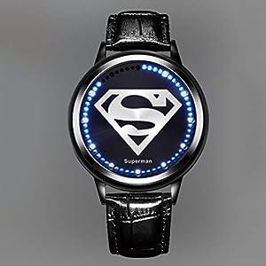 Geführte Touch Screen Uhr, Iron Man Batman Spiderman Superman Avengers League wasserdichtes Persönlichkeits Armband Batman