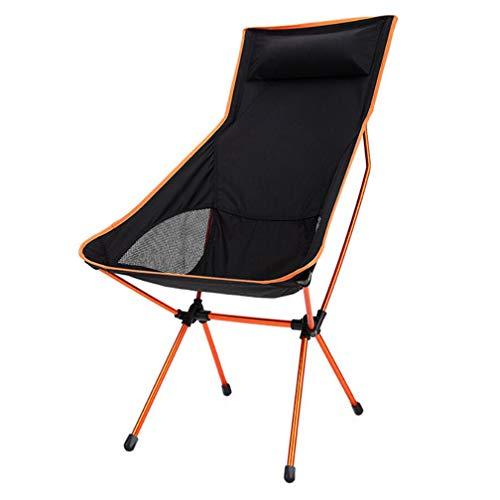 SZP Chaise Pliante extérieure, Ultra léger avec l'oreiller inclinable, en Alliage d'aluminium Chaise Occasionnelle de Lune, Chaise de pêche de Retour, Sale et résistant à l'usure