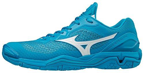 Mizuno Herren Wave Stealth V Sneakers, Mehrfarbig (Bluejewel/White/Hocean 001), 42.5 EU