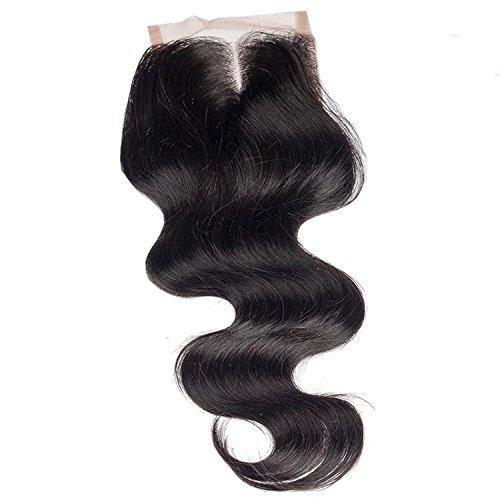 oisk® 7 un body Wave dentelle fermeture cheveux humains brésiliens vierges en dentelle fermeture décolorés avec fermetures avant en dentelle cheveux de bébé